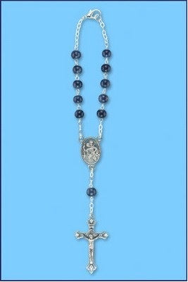 St. Christopher Sapphire Auto Rosary