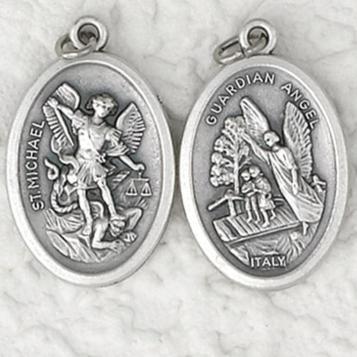 Saint Michael/Guardian Angel Medal - Catholic Gifts Canada
