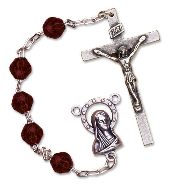 January Birthstone Rosary - Catholic Gifts Canada
