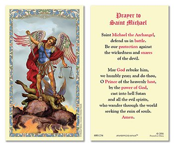 Saint Michael Prayer Card - Catholic Gifts Canada