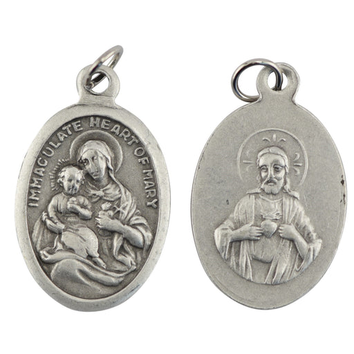 Immaculate Heart/Sacred Heart Medal - Catholic Gifts Canada