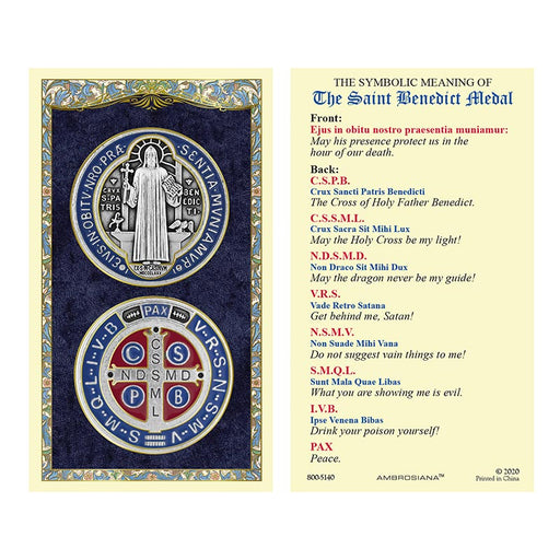 Saint Benedict Laminated Holy Card