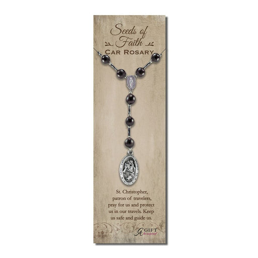 St. Christopher Large Bead Auto Rosary