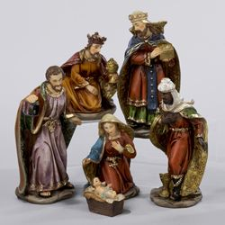 Rich-Coloured Resin Nativity Set