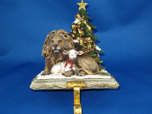 Lion & Lamb Stocking Holder