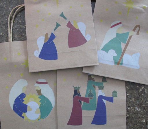 Nativity Kraft Gift Bags