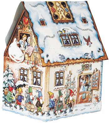 3D Gingerbread House Advent Calendar