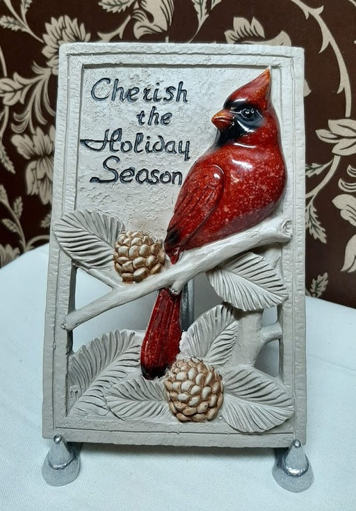 Christmas Cardinal Wall Plaque