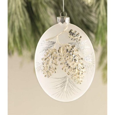 Frosted Pine Cone Ornament