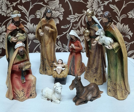 9 Piece Nativity Set