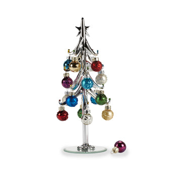 Silver Tree with Miniature Ornaments
