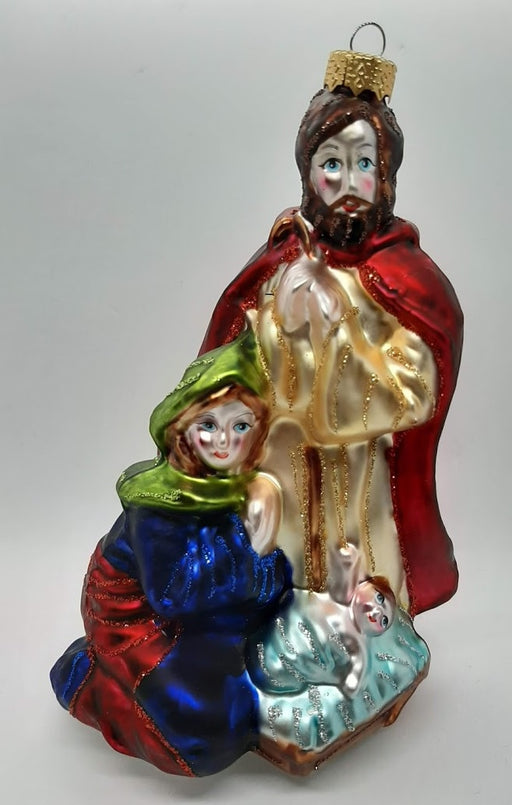 Traditional Glass Holy Family Ornament