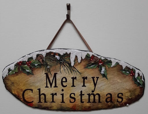 Slate Merry Christmas Plaque