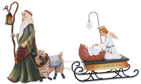 Shepherd with Baby Jesus Figures