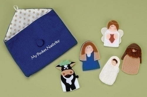 5 Piece Finger Nativity Play Set