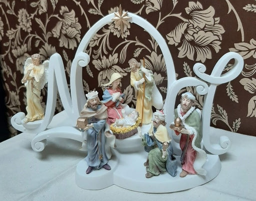 White Noel Nativity Figure