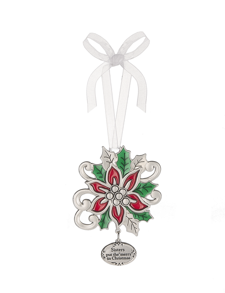 Poinsettia Ornament for a Special Sister