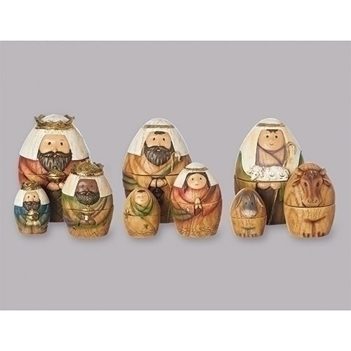 9 Piece Nativity Nesting Box