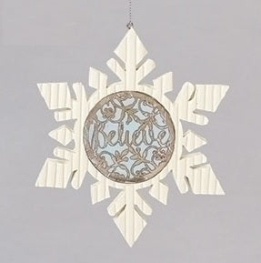 Believe Snowflake Ornament - Catholic Gifts Canada