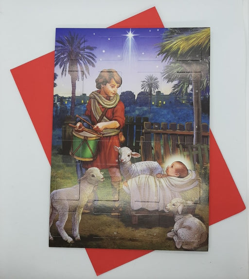Advent Calendar Card - Drummer Boy - Catholic Gifts Canada