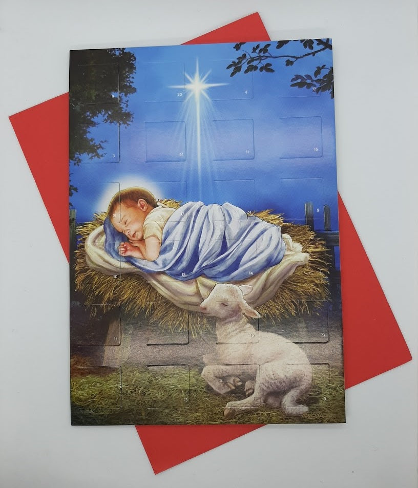 Advent Calendar Card - Baby Jesus