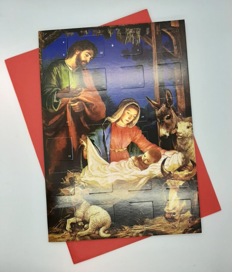 Advent Calendar Card - Holy Family
