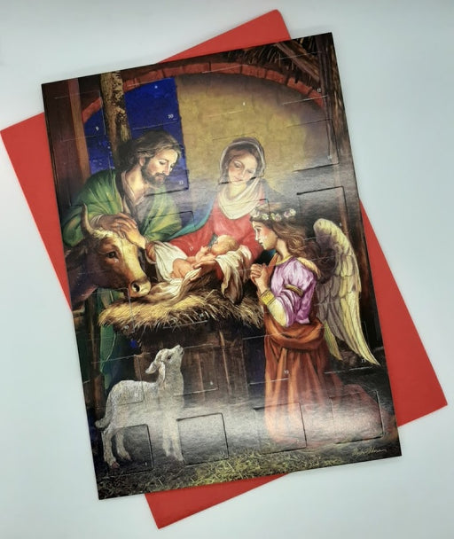 Advent Calendar Card - Holy Family & Angel - Catholic Gifts Canada