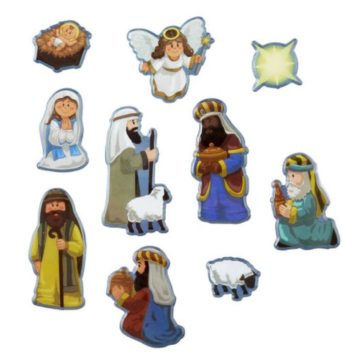 Puffy Nativity Stickers