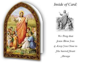 """God Bless You"" Card - Catholic Gifts Canada"