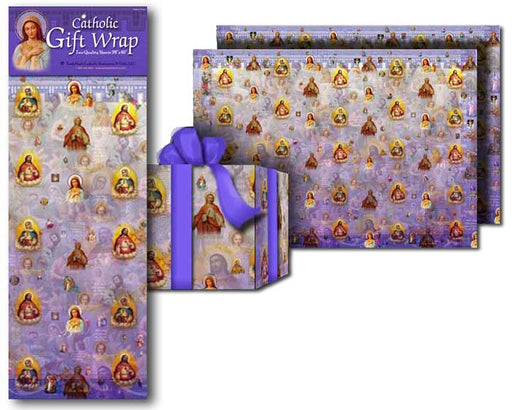 Sacred & Immaculate Heart Gift Wrap