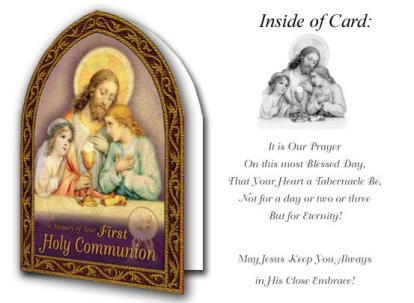Angel's Prayer First Holy Communion Card