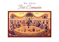 Last Supper First Communion Card