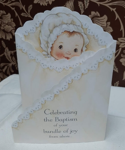 Bundle of Joy Baptism Card