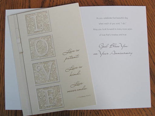 LOVE Anniversary Card - Catholic Gifts Canada