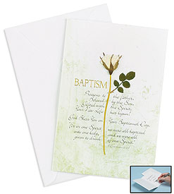 Petal Blessings Baptism Card