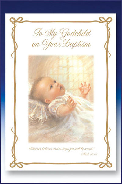 For my Grandchild Baptism Card