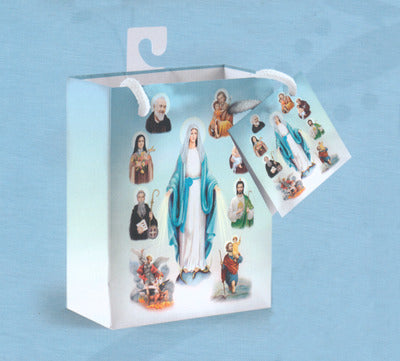 Heavenly Saints Gift Bag with Tissue - Catholic Gifts Canada