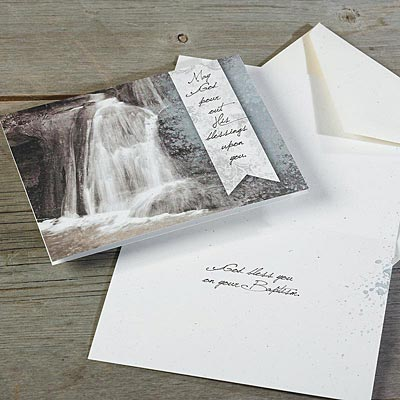 Waterfall Baptism Card