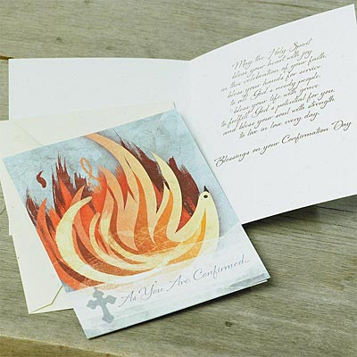 Flame of Confirmation Card