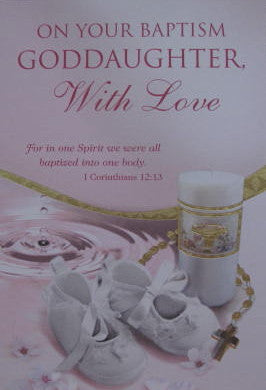 With Love, Goddaughter - Baptism Card