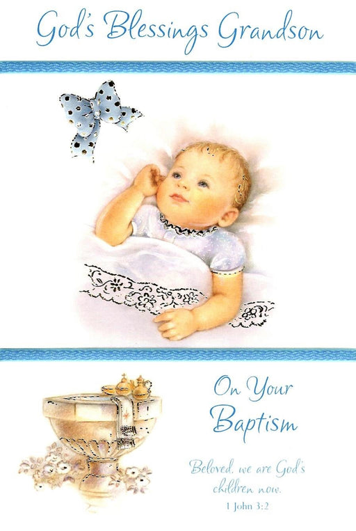 God's Blessings Grandson Card