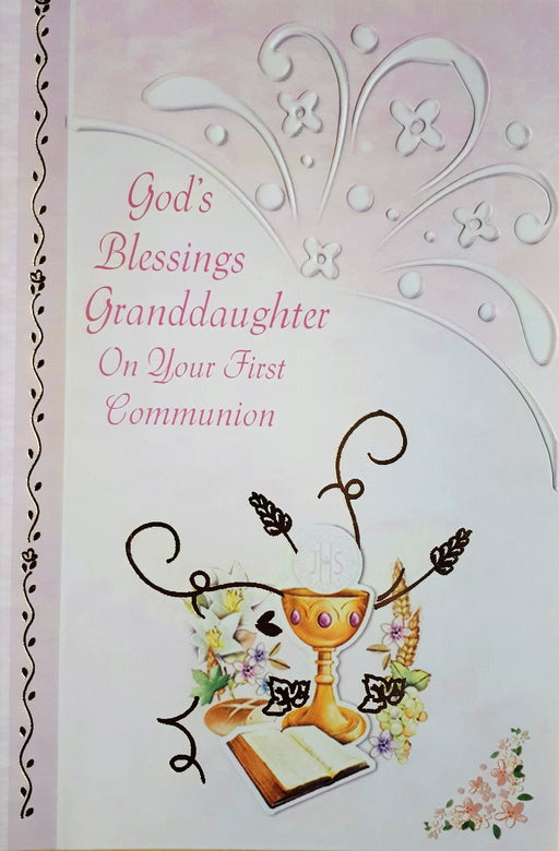 God's Blessings Granddaughter Communion