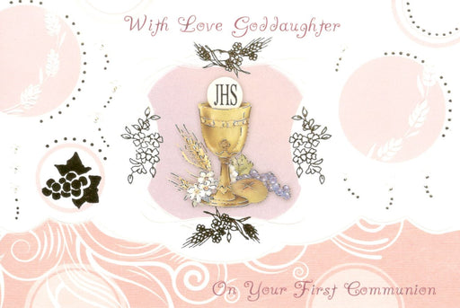 With Love Goddaughter Communion Card