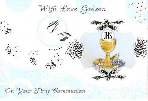 With Love Godson Communion Card