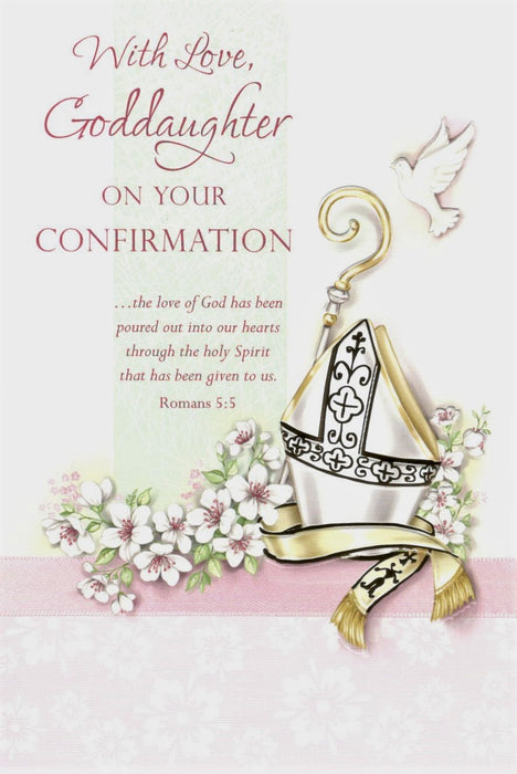 With Love Goddaughter Confirmation Card