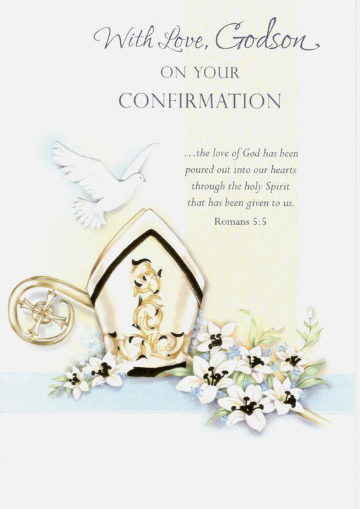 With Love Godson Confirmation Card