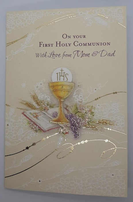 On Your First Communion With Love from Mom & Dad