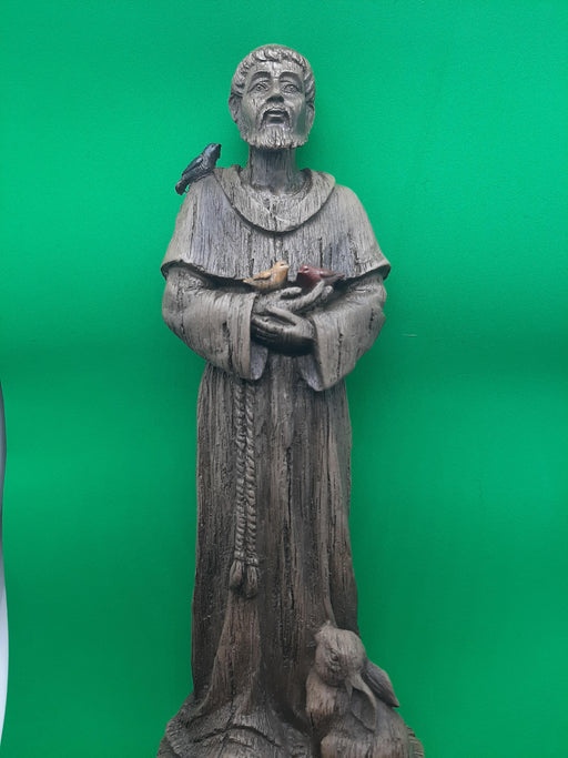 St. Francis with Birds Figure