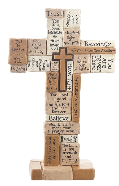 "10"" Collage Tabletop Cross"