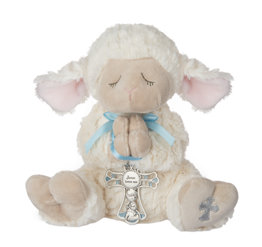 Serenity Lamb with Crib Cross for a Boy